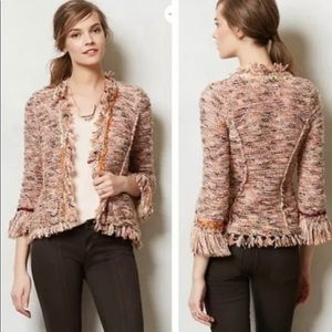 Anthropologie ANGEL OF THE NORTH Cardigan Fringe